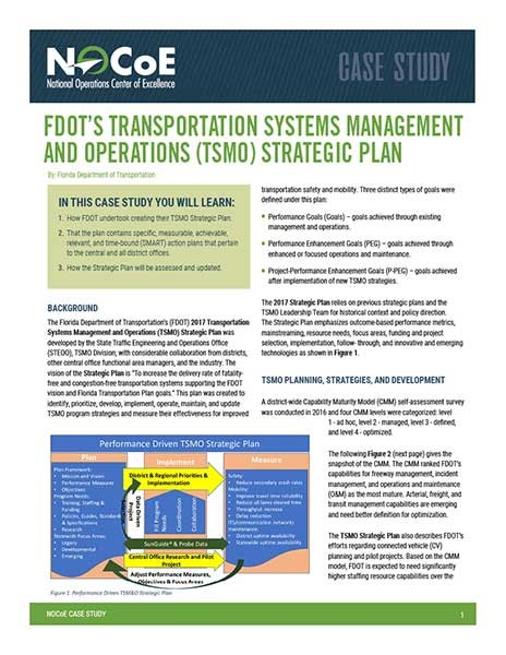 Transportation Systems Management and Operations Strategic
